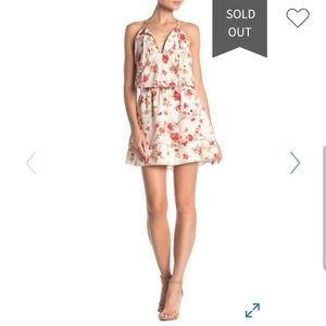Joie Pintuck pleating and a floral print dress